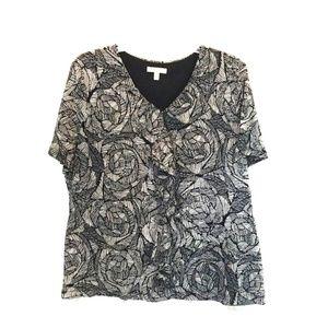 Croft&Barrow plus size blouse size 1x